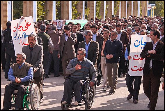 مراسم تشييع سردار شهيد عليرضا سراج
