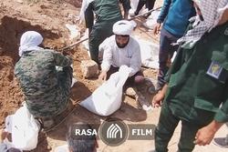 ساخت سیلبند حمیدیه به دست طلاب جهادگر