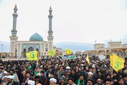 تشییع پیکر طلبه شهید مدافع حرم حجت الاسلام موسوی در قم