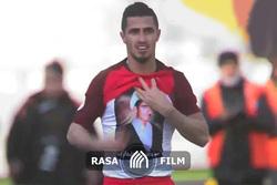 طلبه شهید در ورزشگاه آزادی