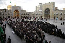 مراسم تشییع پیکر شهید مدافع حرم اصغر پاشاپور در حرم امام رضا (ع)