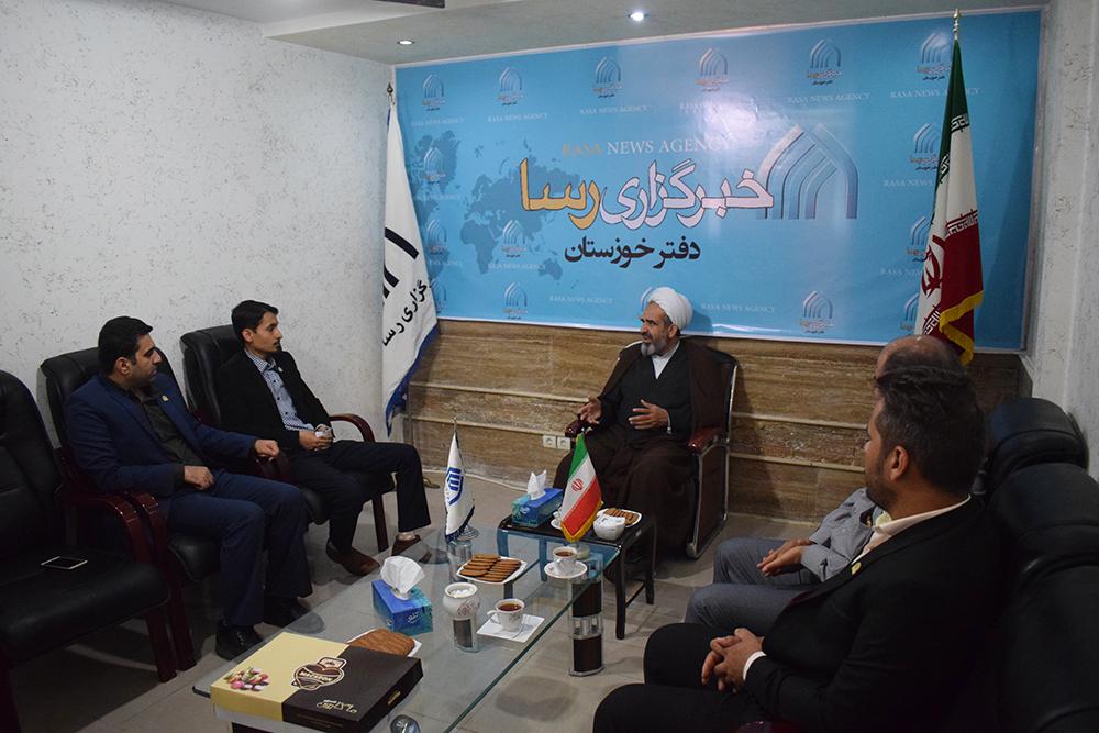 پ/بازدید نماینده ولی فقیه در سپاه خوزستان از خبرگزاری رسای خوزستان