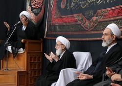 مراسم عزاداری اربعین حسینی در بیوت مراجع تقلید برگزار شد