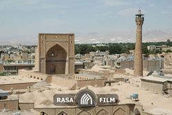 نمایی متفاوت از مسجد جامع سمنان