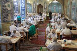 کارگاه جهادی تولید ماسک در حسینیه بنی فاطمه اصفهان