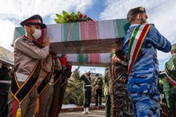 تشییع ۴ شهید گمنام دفاع مقدس در تبریز