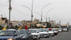راهپیمایی خودجوش خودرویی در برخی شهرهای کشور همزمان با روز قدس