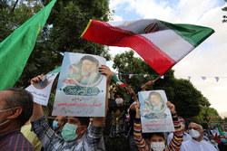 جشن پیروزی هواداران آیت الله رئیسی در همدان