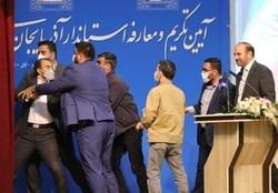 سیلی بر صورت استاندار آذربایجان شرقی/ عابدین خرم ضارب را بخشید+فیلم و صوت