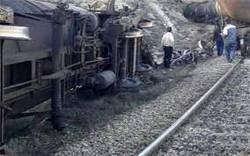 ۴ واگن قطار باری در منطقه ورسک سوادکوه از ریل خارج شد